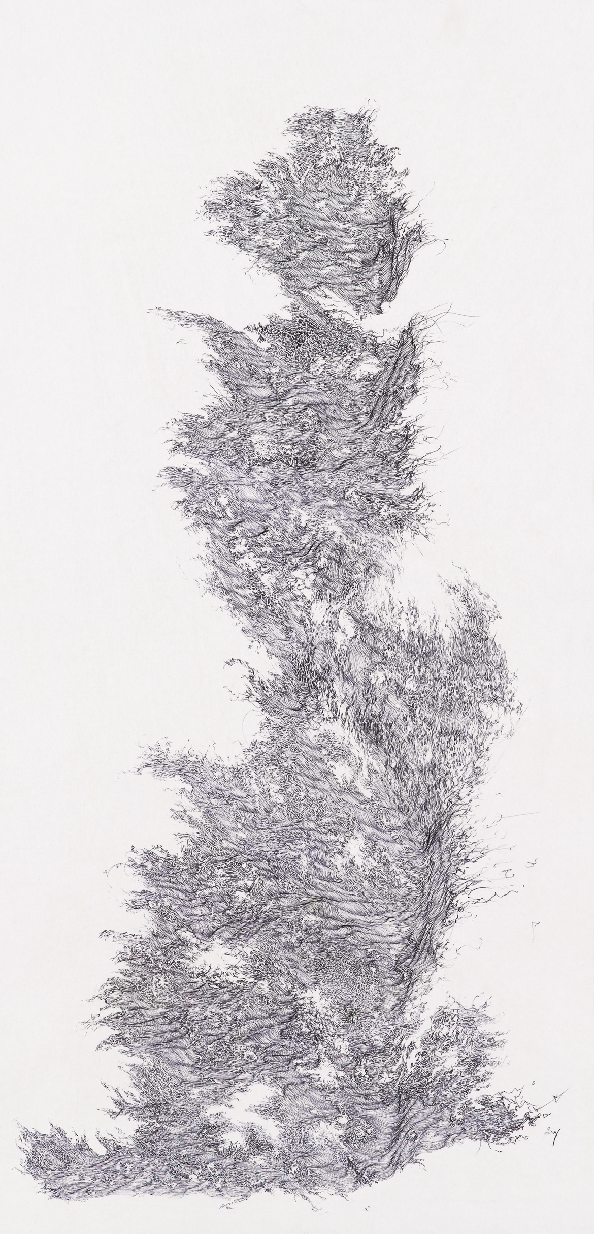 [21] a moment of truth 4, ball pen on paper, 1 ft (width)x 2 ft (height), 2012