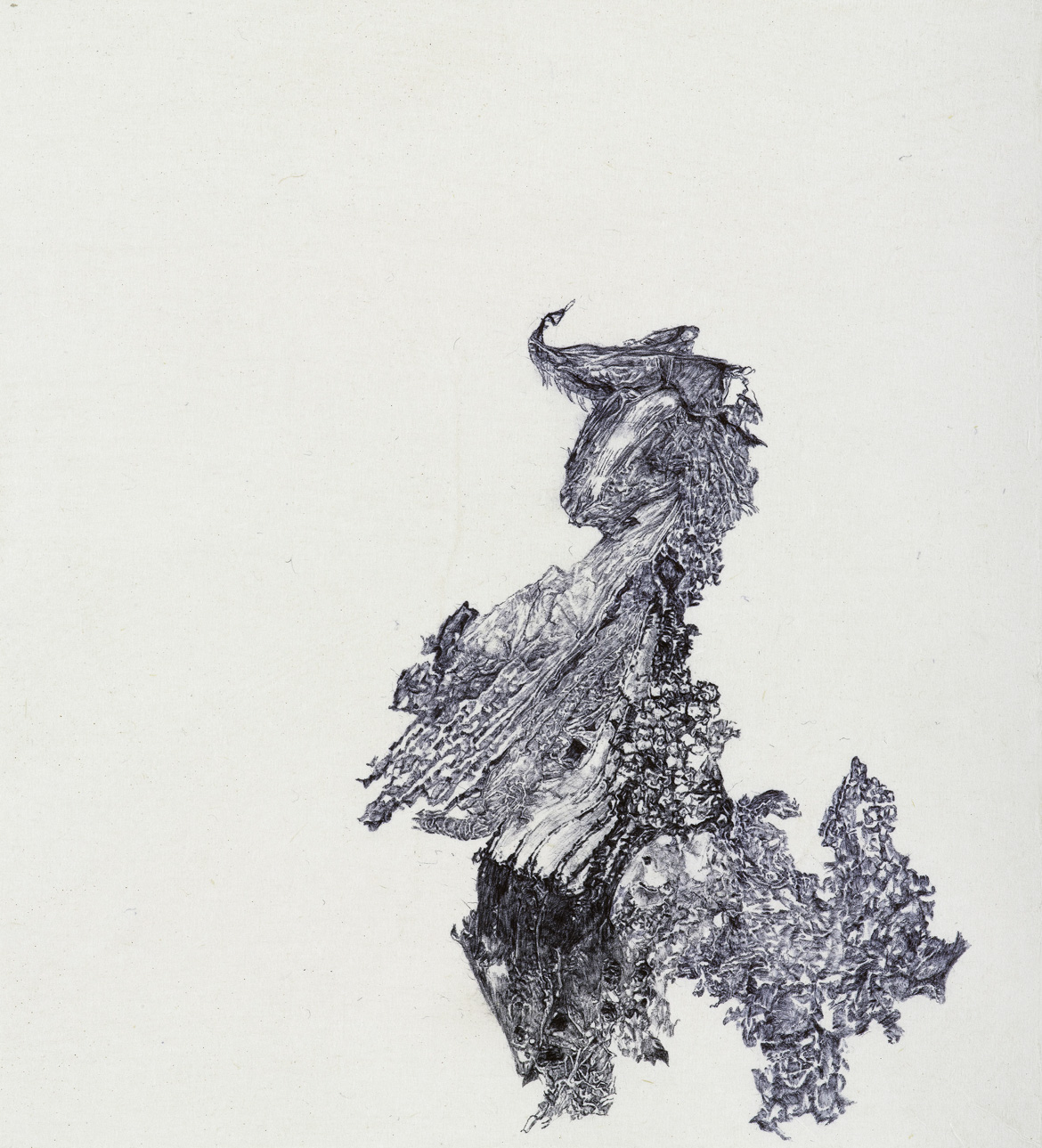 a moment of truth 22, ball pen on paper, 33cm (height) x 32cm (width), 2013