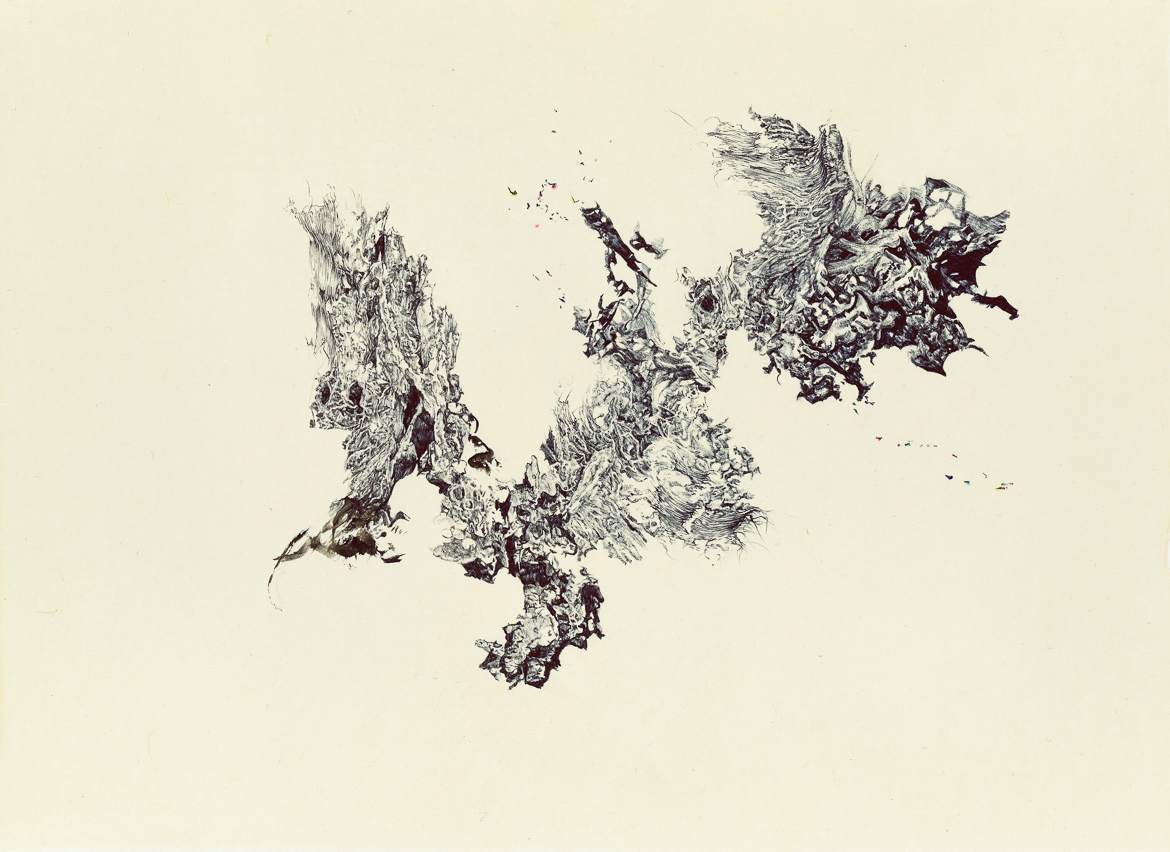 a moment of truth 29, ball pen on paper, 31cm (h) x 43cm (w), 2014