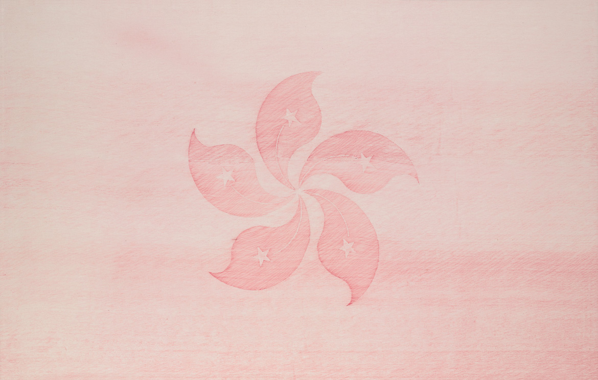 bauhinia, ball pen on paper, 102cm (h) x 154cm (w), 2007