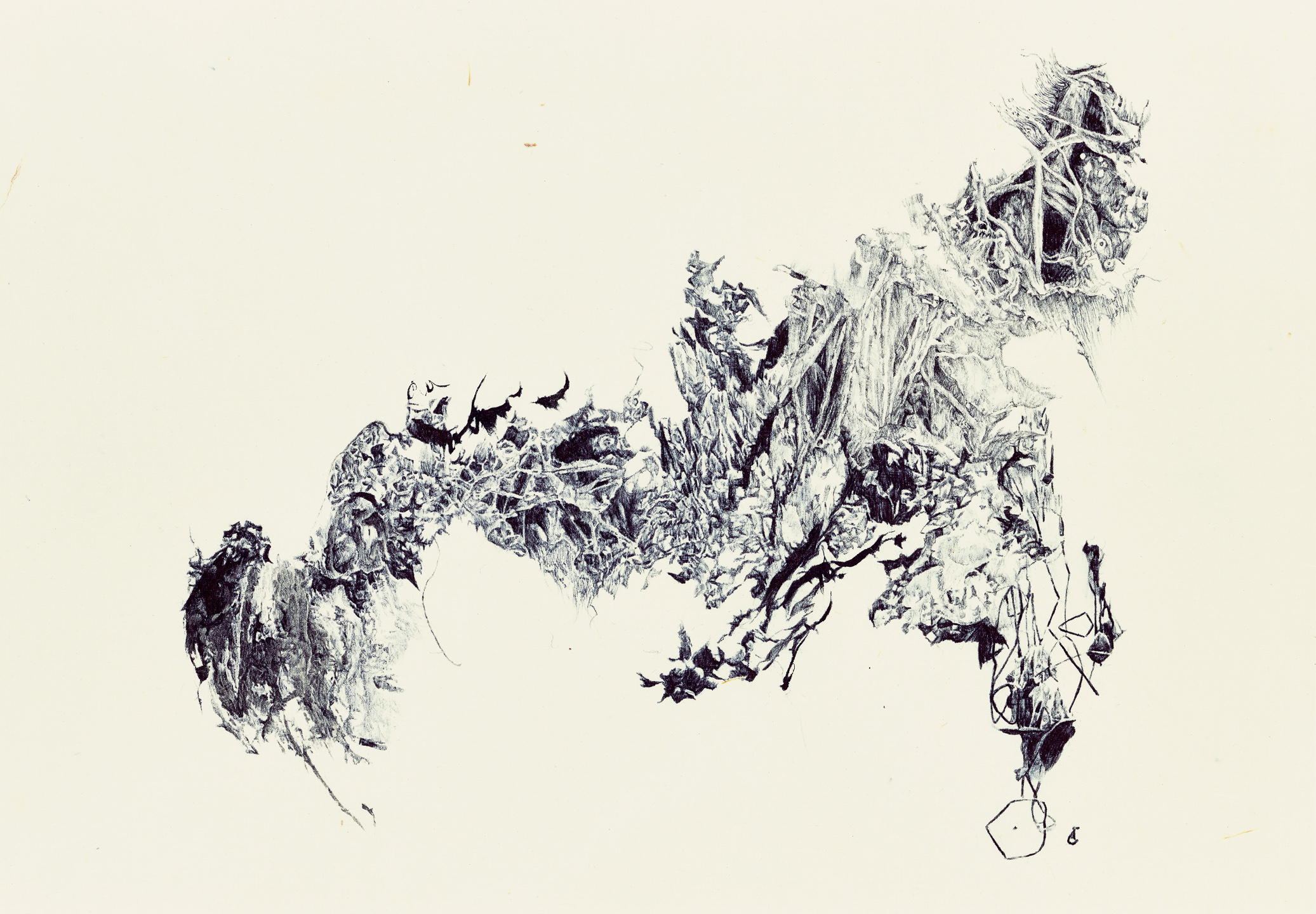 A moment of truth 36, ball pen on paper, 27cm (height) x 38.5cm (width), 2014