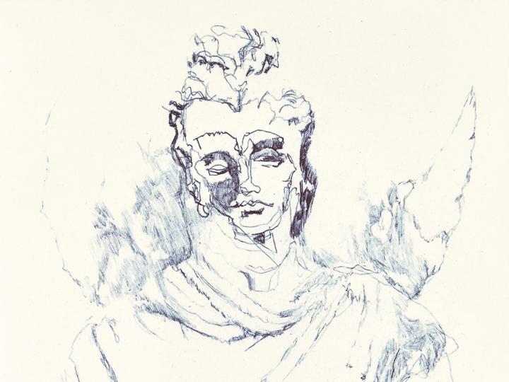 Gandhara Buddha study 6