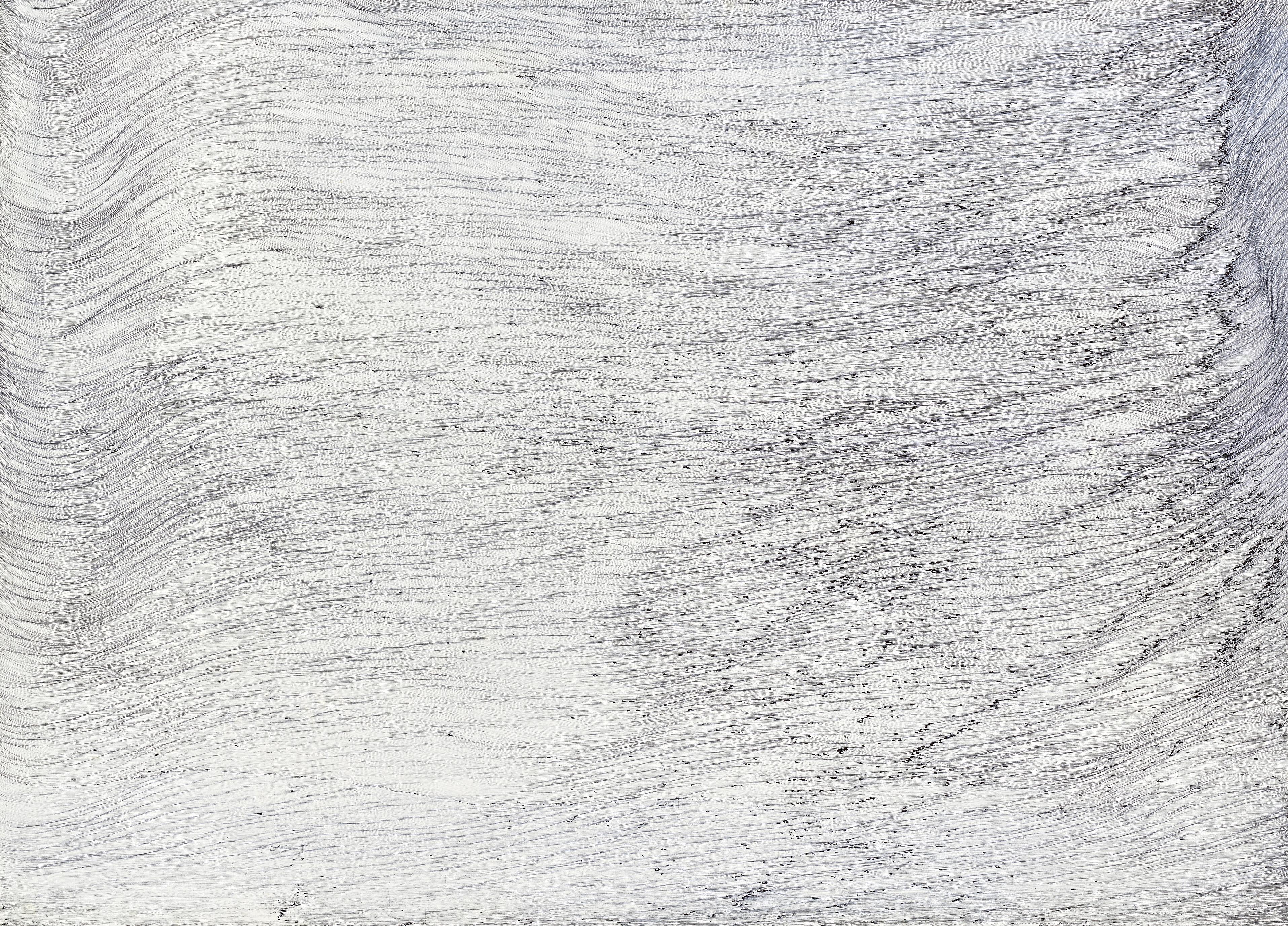 lightwave memory 14, ball pen on paper, 104 cm (height) x 144 cm (width), 2016