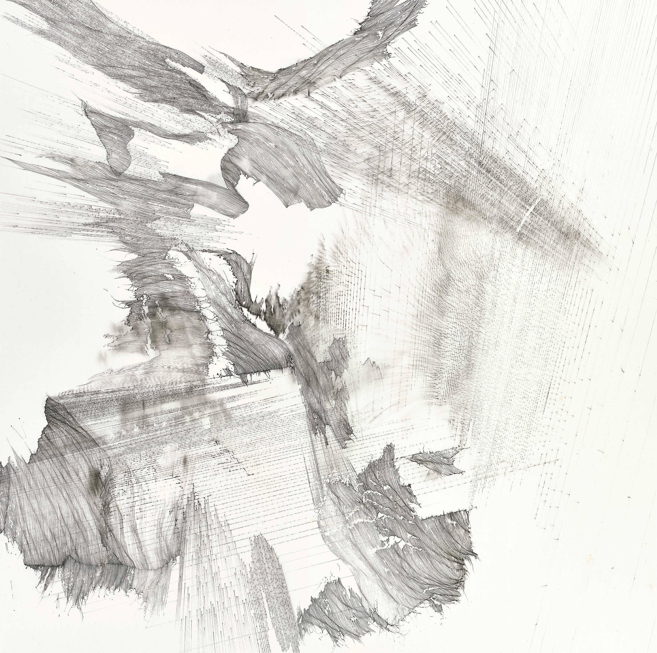 Hung Fai and Wai Pong Yu, Same Line Twice 3, 96.5 cm (width) x 96.5 cm (height), pigmented ink on paper, 2016