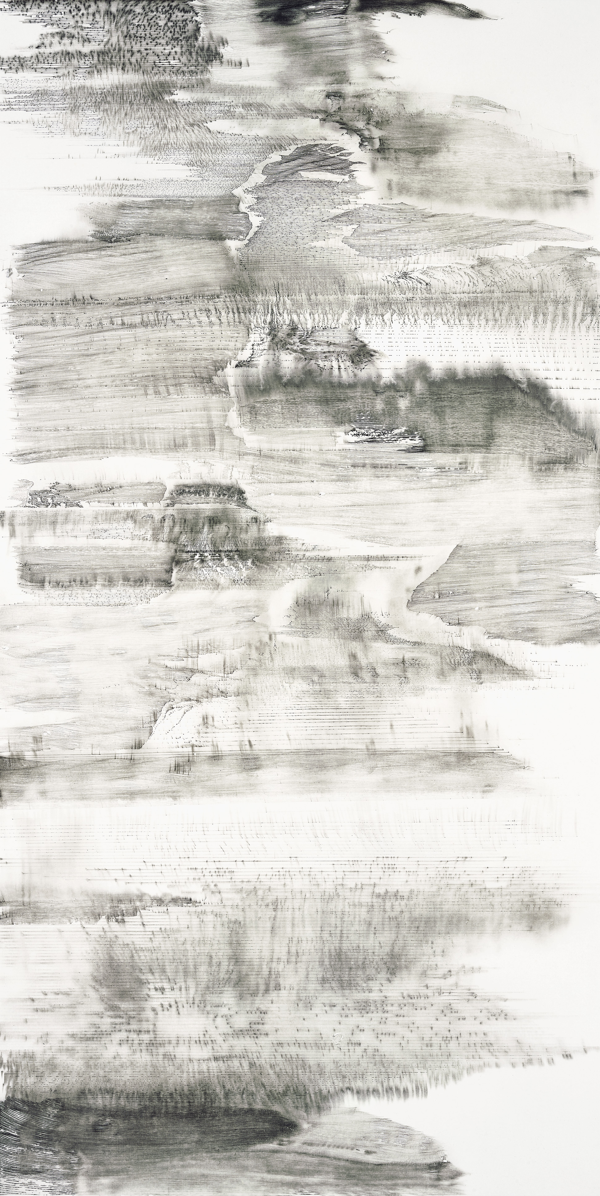 Hung Fai and Wai Pong Yu, Same Line Twice 4, 70 cm (width) x 138 cm (height), pigmented ink on paper, 2016